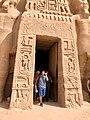 Entryway, Temple of Hathor and Nefertari, Abu Simbel, AG, EGY (48016767051).jpg