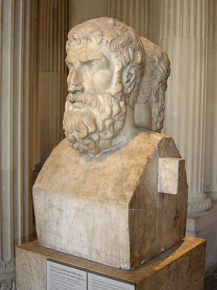 Bust of Epicurus leaning against his disciple Metrodorus in the Louvre Museum Epicurus Louvre.jpg
