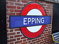 Epping station roundel.JPG