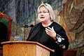 Erna Solberg, Norges delagtion till Nordiska radet, talar i plenum under sessionen i Kopenhamn 2006.jpg