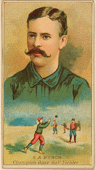 Ernie Burch - Image: Ernie Burch, outfielder, Brooklyn Trolley Dodgers, 1888
