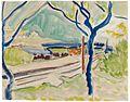 Ernst Ludwig Kirchner Landschaft mit See c1908.jpg