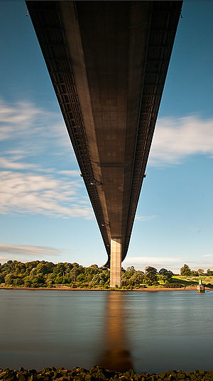 Erskine Bridge - View of the underside of the bridge