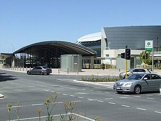 Elizabeth Quay railway station - Station in December 2007