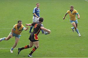Belgium national rugby sevens team - Belgium playing Ukraine in 2008