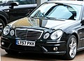 Exemplary tuned Mercedes-Benz E-Class 4-door in London @ The Four Seasons Hotel Canary Wharf. What a great car! Enjoy the quality lines! ) (4658154200).jpg