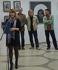 Exhibition UNDER 35 in Palace of Art Minsk 13.05.2014 Hanna Hrinevich.JPG