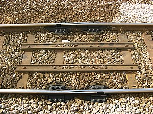 Expansion joint - An expansion joint on the Cornish Main Line, England