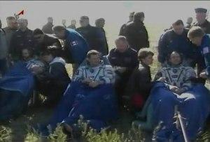 File:Expedition 35 Crew Lands Safely in Kazakhstan.webm