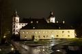 Exteriör. Slottet och stenhuset i nattljus. Julmarknad. Marknadsföring - Skoklosters slott - 87041.tif