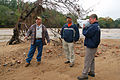 FEMA - 42336 - Carroll County, Georgia officials surveying Chattahoochee River.jpg