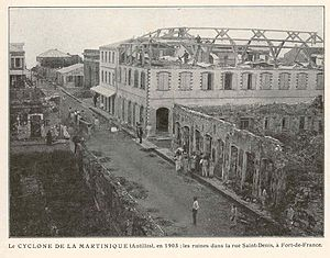 1903 Atlantic hurricane season - Damage from the second hurricane in Martinique