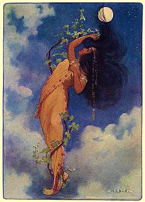 Mythologies of the indigenous peoples of the Americas - From the full moon fell Nokomis - from The Story of Hiawatha, 1910