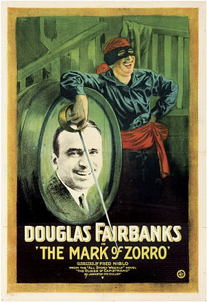Zorro - The Mark of Zorro, starring Douglas Fairbanks, the first Zorro film, was instrumental in the early success of the character
