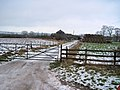 Farm track opposite Burston Hill farm - geograph.org.uk - 1635765.jpg