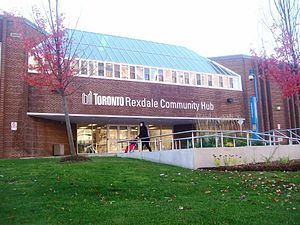 Rexdale - The Rexdale Community Hub is located on the former site of Father Henry Carr Catholic Secondary School