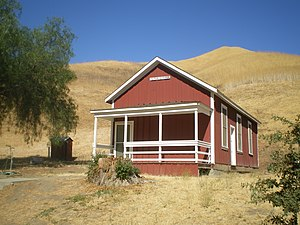 Mentryville, California - Felton Schoolhouse in 2008.  The school was named in honor of Senator Charles N. Felton.
