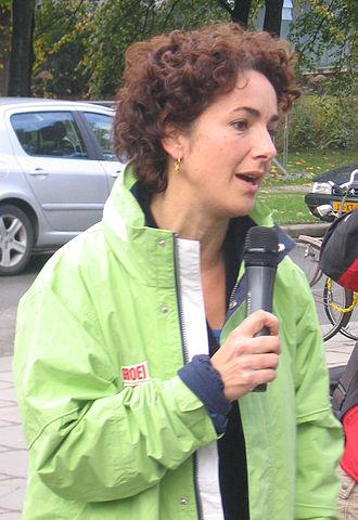Femke Halsema - Femke Halsema campaigning in 2006