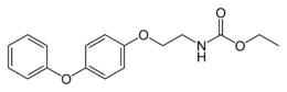 Skeletal formula of fenoxycarb