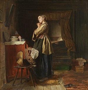 Ferdinand Fagerlin - Flicka framför spegeln.