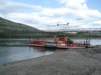 Ross River, Yukon - Ferry across Pelly River