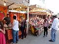 Festival d'Avignon, produits exotiques sur le marché des allées de l'Oulle.jpg