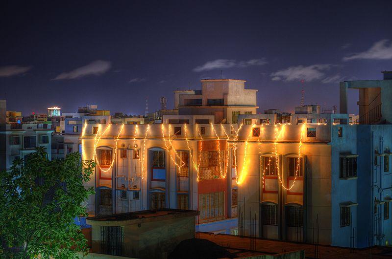Festive lights on the eve of Diwali India.jpg