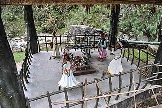Jhākri - Statues of jhākri at Banjhakri Falls and Energy Park in Gangtok, Sikkim, India