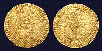 Philip I of Castile - Holland, gold florin 'Philippus Goudgulden', struck in Dordrecht under the reign of Philip the Fair