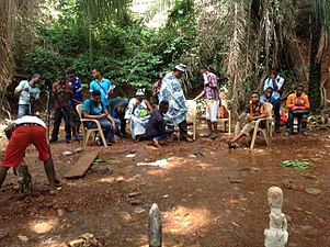 Filming a nollywood movie titled the lion.jpg