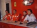 Finali Mondiali Ferrari (Mugello, 2005) - Schumacher, Barrichello, Todt, Montezemolo.jpg
