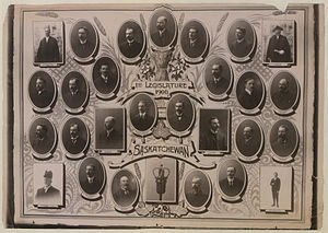 1st Saskatchewan Legislature - First Legislature, 1906, Saskatchewan. Edgar C. Rossie, British Library.