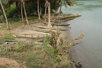 Ankobra River - Fishing boats at Ankobra River