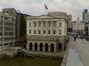 Worshipful Company of Fishmongers - Fishmongers' Hall overlooking the Thames at London Bridge.