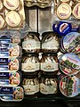 Fiskebryggen, Mathallen, Fishmarket, Bergen, Norway 2018-03-16. Cans with Norwegian caviar, cod liver, jars with anchovies, etc. for sale at Fish Me B.jpg