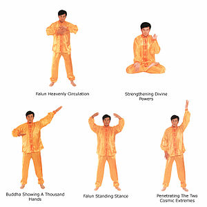 Falun Gong - The five exercises of Falun Gong