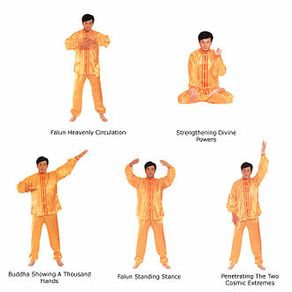 Falun Gong - The five exercises of Falun Gong