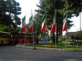 Flag of Iran in the Nishapur Railway Station square 02.JPG