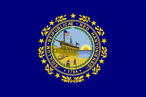 Flag and seal of New Hampshire