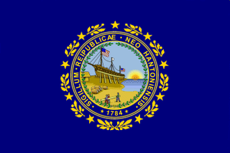 Flag and seal of New Hampshire - Image: Flag of New Hampshire (1909 1931)