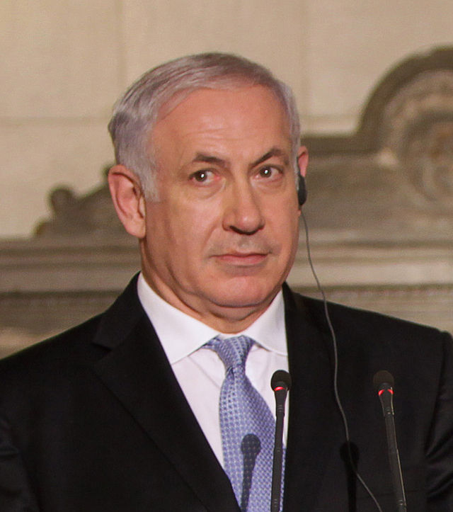 From commons.wikimedia.org: Benjamin Netanyahu {MID-131966}