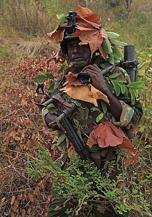 Military of Burundi - Mortar man with 1st Sapper Company, Burundi National Defense Force
