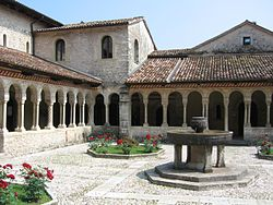 The abbey cloister