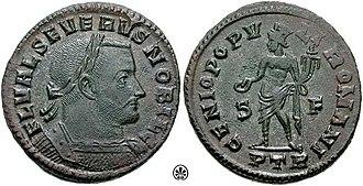 Valerius Severus - Flavius Valerius Severus  as Caesar (305–306)