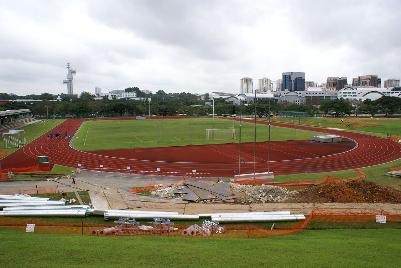 File:Football field and running track, Kent Ridge Campus, National ...