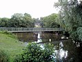 Footbridge, Caerphilly Castle moat - geograph.org.uk - 2570153.jpg
