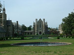 Berry College - The reflecting pools located in front of the Ford Dining Hall