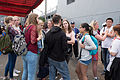 Foreign Visitors Talking after Training Squadron Show Campign 20150316.jpg