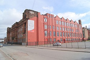North British Locomotive Company - Former headquarters of NBL in Springburn, Glasgow. During World War I the building was temporarily converted into a hospital by the British Red Cross. It was latterly the campus of North Glasgow College.