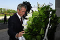 Former President George W. Bush, foreground, lays a wreath at the Pentagon Sept 110910-F-RG147-037.jpg